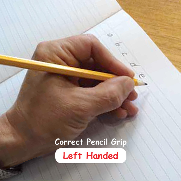 Correct Pencil Grip - Left hand