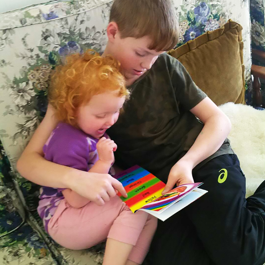 Boy and Girl Reading Zappy Book