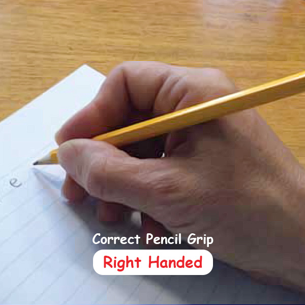 Correct Pencil Grip - Right hand